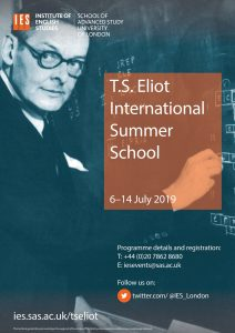 fef06282b85 Held annually in Bloomsbury, London, the 2019 TS Eliot International Summer  School is now open for registration here.